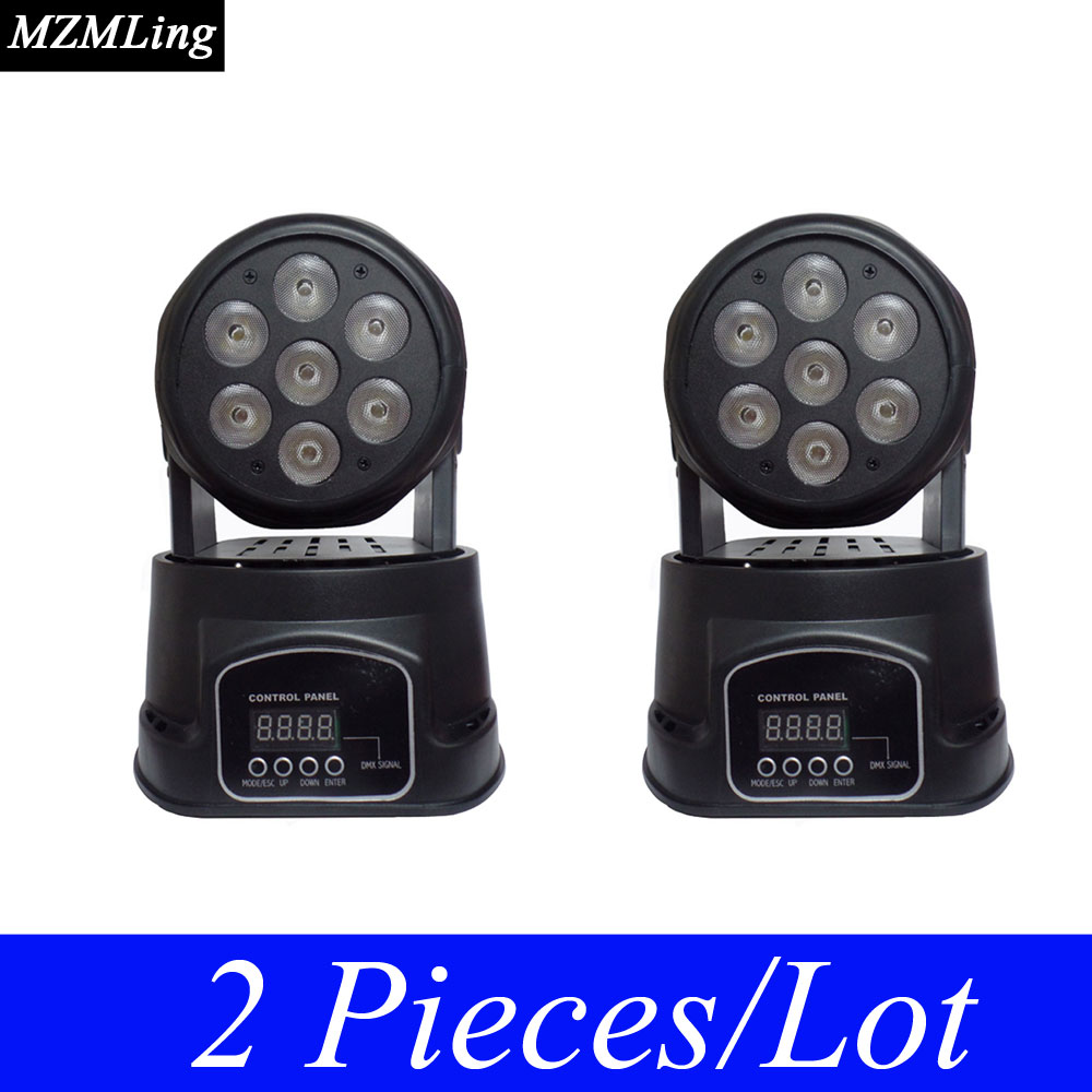 2 Piece/Lot Led 7*10w RGWB Washing Light DMX512 Moving Head Light Professional DJ/Bar/Party/Show/Stage Light LED Stage Machine niugul dmx stage light mini 10w led spot moving head light led patterns lamp dj disco lighting 10w led gobo lights chandelier