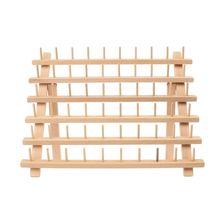 Складная деревянная стойка для ниток, стойка вмещает 60 шпуль, конус для вышивания, швейная машина, держатель для хранения, стойка для резьбы