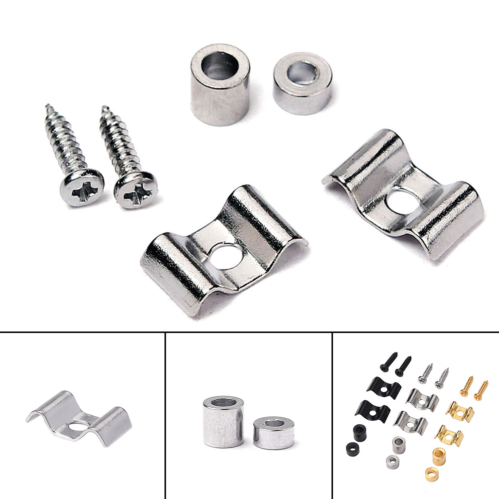 1Set Metal Electric Guitar String Retainer For Fender Strat Style Electric Guitar Bass Parts