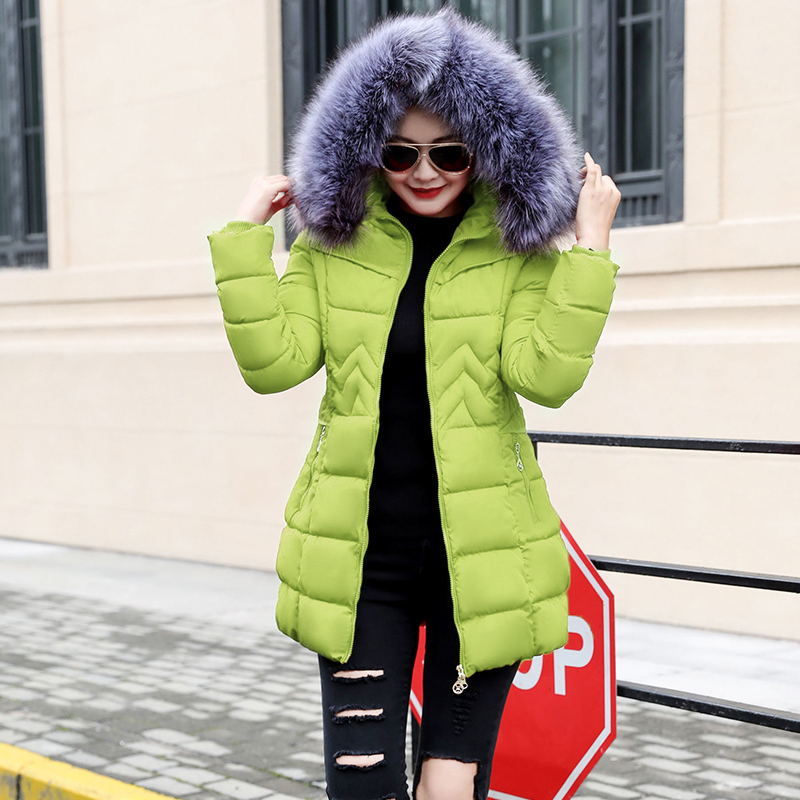 c4e09df51 Winter Female Long Jacket 2018 Winter Coat Women Fake Fur Collar Warm Woman  Parka Outerwear Down Jacket Winter Jacket Women Coat