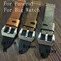 20mm22mm24m26mm браун ручной высокое качество натуральная кожа ремешок для часов для Pam военные часы большой пилот часы