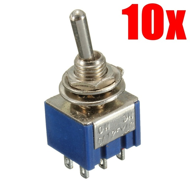 10 pcs mini 6 pin 2 position toggle switches on on dpdt double pole rh aliexpress com