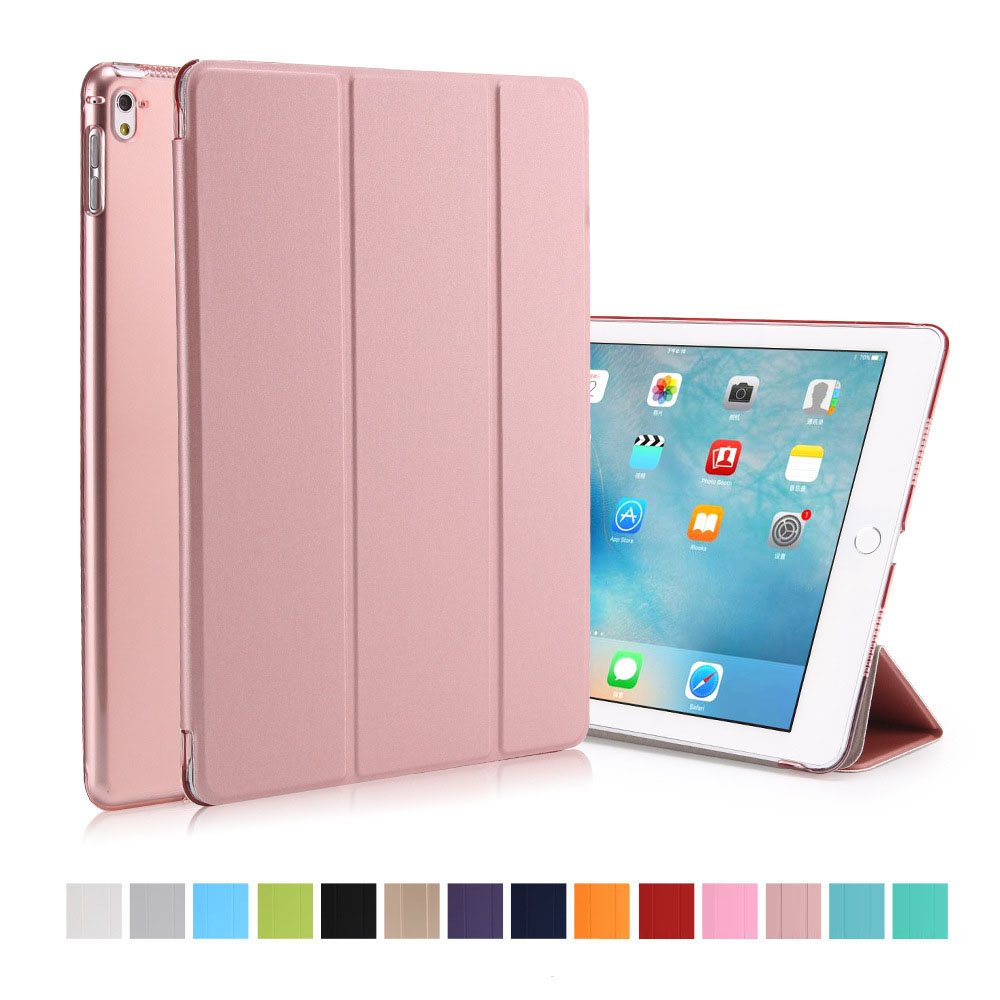 Magnetic Case for iPad Pro 9.7 Tablet ,Front Smart PU Leather+Hard PC Funda Cover With Auto Sleep/Wake Up Function+Screen Film jisoncase generic for ipad pro 12 9 2017 case pu leather luxury tablet smart cover 2015 slim auto wake funda