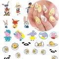 STZ 21 Hoja Nail Art Decoración Pegatina de Dibujos Animados de Diseño de piel de Zorro/conejo/Cerdo Rosado/Descansar Huevo Lindo Patrones BRICOLAJE Herramientas de Manicura STZ331-351
