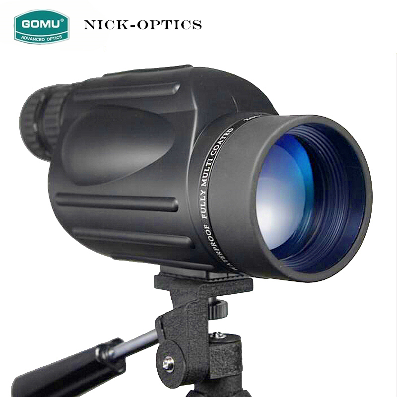 Gomu 10-30X50 HD Zoom Monocular Bird Watch High quality Nitrogen Waterproof Telescope Binoculars For Hunting Shockproof Tripod 10 30x50 outdoor hunting optics telescope pocket mini zoom monocular high quality pocket telescope with tripod