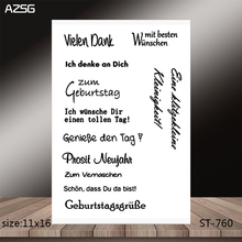 AZSG Phrase Clear Stamps/Stamp/For Scrapooking/Card Making/Silicone Stamps/Decoration  Crafts
