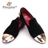Новый стиль металлический колпачок спереди и сзади мужские бархатная обувь модные заостренный носок мужские лоферы подходят для свадьбы и