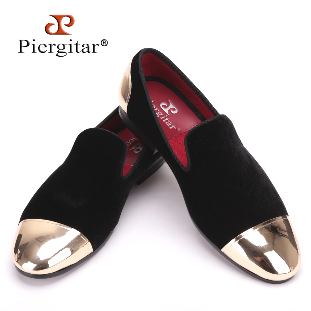 New style front and back metal cap men velvet shoes Fashion Pointed Toe Men  Loafers wedding and party noble slip on men s flat 7e0fa854f6ba
