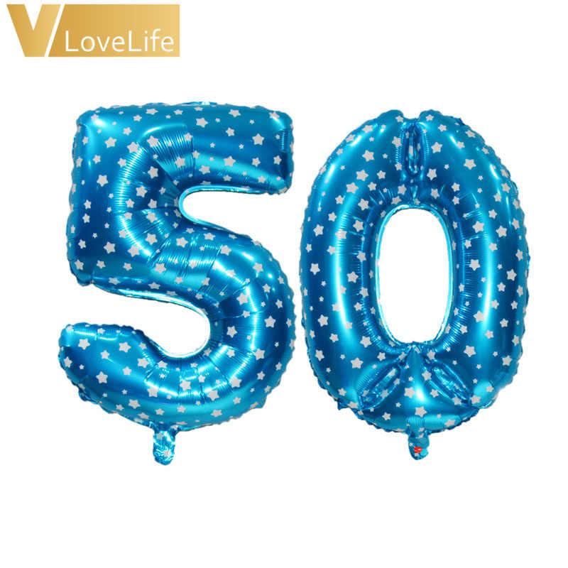 Foil Balloons 16th 18th 20th 21st 30th 40th 50th Birthday Balloon Number Happy Party