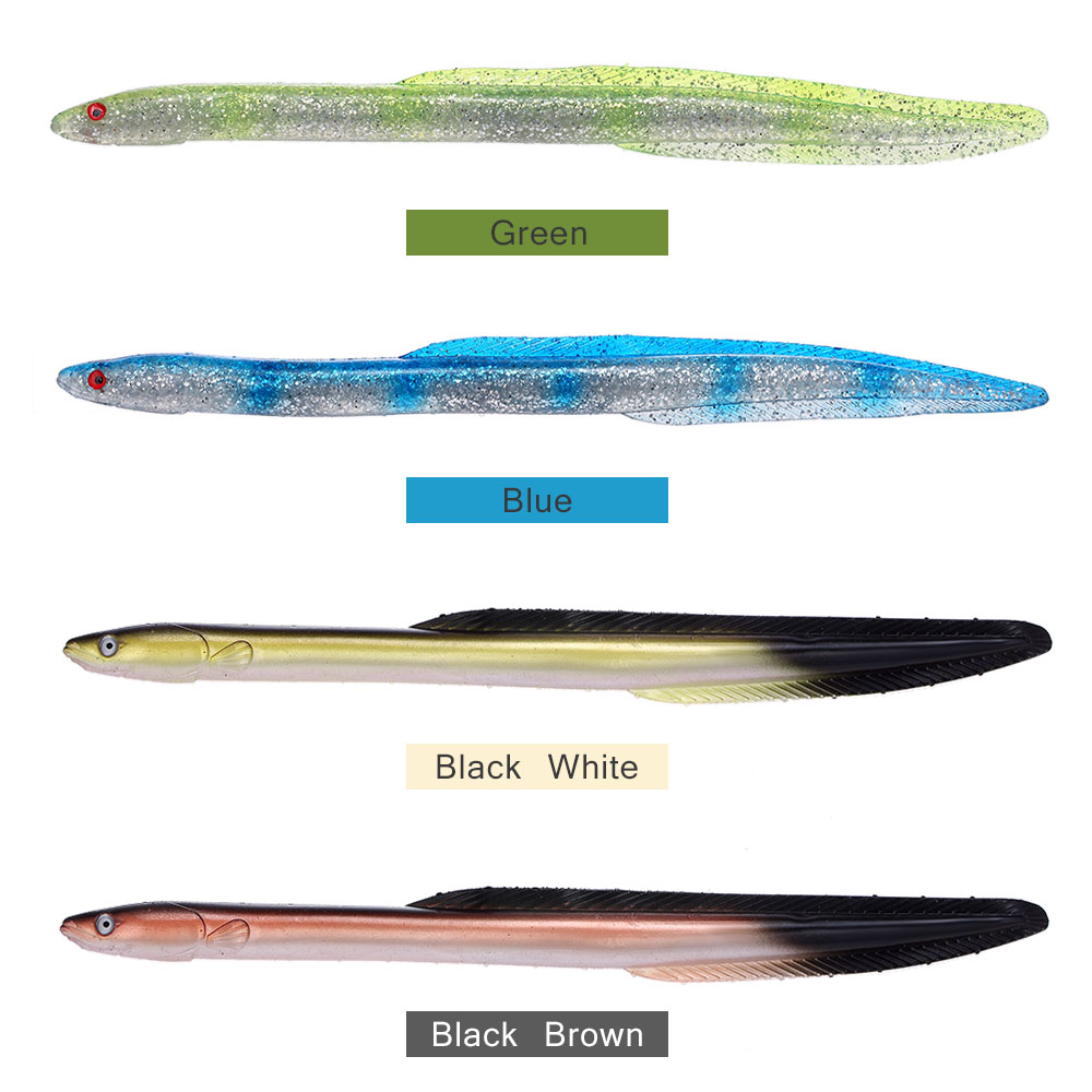 Lixada 29.5cm//59g Fihsing Soft Bait,Swim Eel Artificial Lure,Simulation Fihsing Lure,Tackle Soft Bait Smell Lure