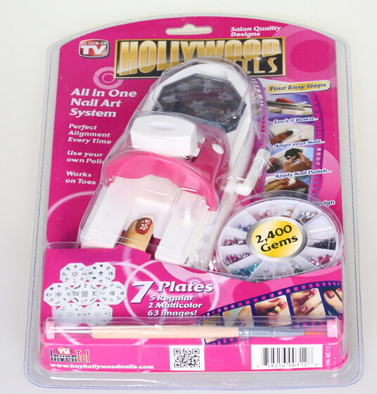 Hollywood nails all in one nail art system as seen on tv nail nail scissors set picture more detailed about new hot hollywood nails art prinsesfo Gallery