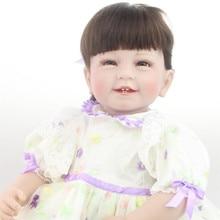 55cm Vinyl Simulation Baby Reborn Dolls Adorable Handmade Girl Princess Toys Children Bonecas Brinquedos Kids Play House Toy