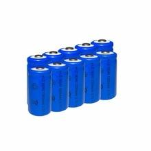 6PCS/LOT TBUOTZO 16340 Rechargeable Battery li ion 1300mAh Batteries Bateria Li-ion Lithium Battery for Flashlight цена и фото