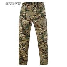 Zxqyh летние камуфляжные Водонепроницаемый быстросохнущая брюки военные тактические карго штаны с несколькими карманами IX9 Для мужчин Пеший Туризм брюки