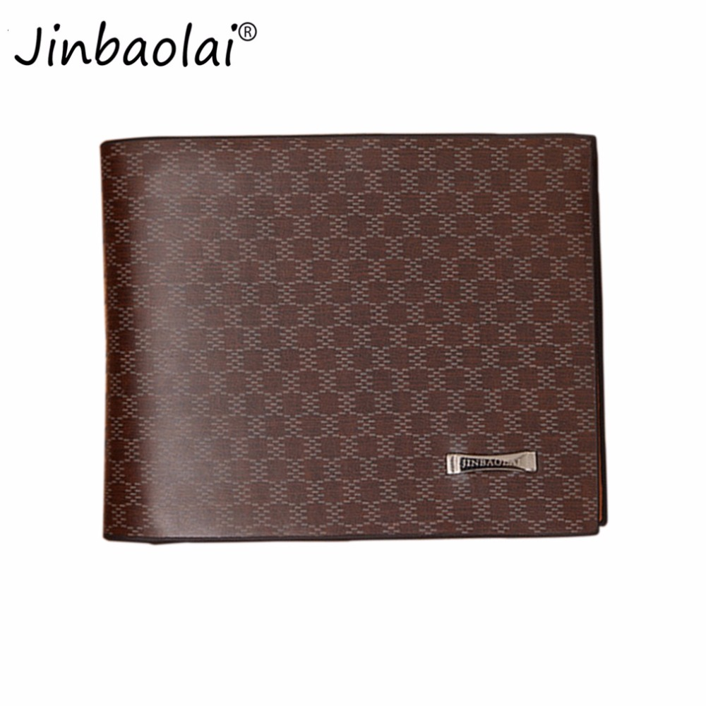 JINBAOLAI Fashionable Men Male Short Type PU Leather Wallet Casual Super Thin Money Credit Card Organizer Light Coffee carteira bovis 5102 02 casual man s pu credit name card wallet slots coffee