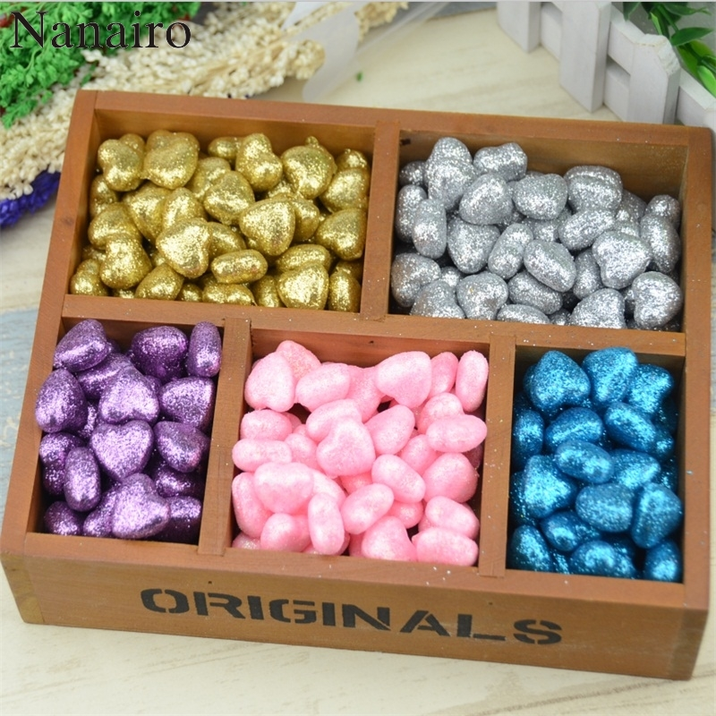 Home & Garden Artificial & Dried Flowers Fine 30pcs/lot 1.5*2cm Shining Pe Foam Heart Wedding Decoration For Diy Hand Make Christmas Scrapbooking Festive Party Supplies To Have Both The Quality Of Tenacity And Hardness