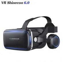 Vr shinecon 6.0 3D очки виртуальной реальности очки Google картона VR коробка 2.0 VR гарнитура с наушниками gampad для смартфонов