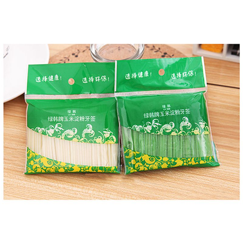 Corn Starch Grains Environmental Health Toothpick Toothpick 200 Pcs Installed Child Safe ...