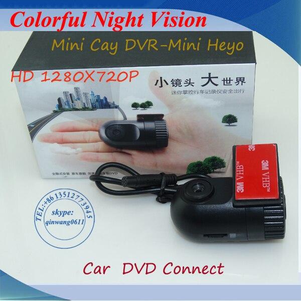 2016 nouvel enregistreur vidéo de caméra de voiture HD 1080P140 grand angle Dash DVR pour la connexion à l'écran LCD de voiture moniteur/DVD/GPS Navigation