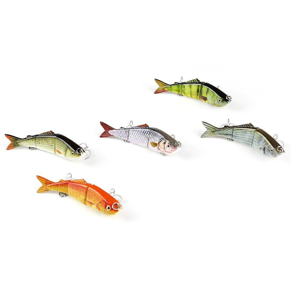 """Mmlong 3,2 """"/7,9g Populární rybářské návnady 3 Segment Realistické Crankbait Pomalu klesající Swimbait Lifelike Hard Fish Bait Tackle AL03B-2"""