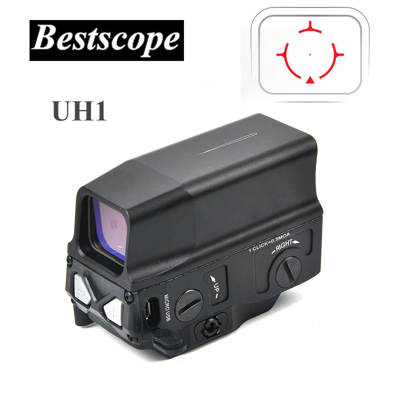 Optical UH1 Red Dot Sight Scope Reflex Sight Holographic Sight For 20mm Rail Hunting Scopes With USB Charge