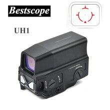 Lunette de visée UH1 avec point rouge, réflexe de vue holographique pour la chasse, chemin de fer de 20mm avec chargeur USB