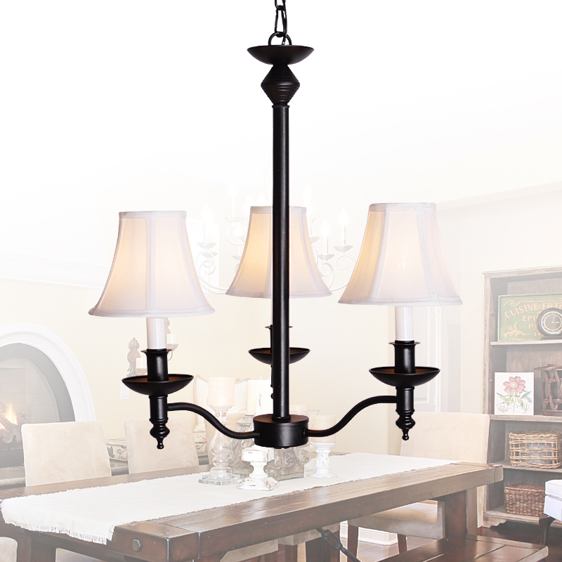 LED chandelier American Iron Chandelier chandelier chandelier chandelier simple simple living room atmosphere