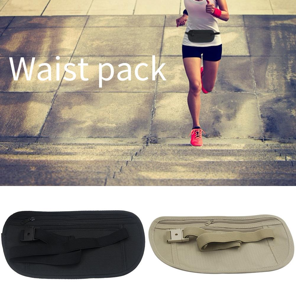 Nylon Waterproof Running Bag Run Fitness Sports Waist Belt Bags Multifunction Thin For Outdoor Travel Phone Pouch Gym Fanny Pack