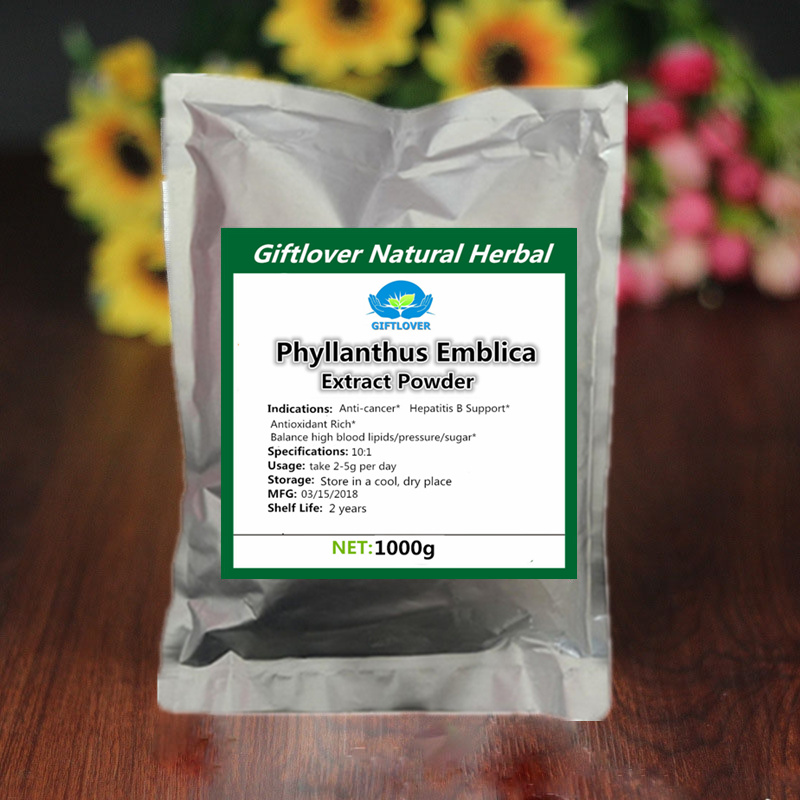 US $19 74 48% OFF|100% Pure Natural Phyllanthus Emblica Extract  Powder,Emblic Myrobalan,Amla,Cure hepatitis B,Anti Cancer,Indian  gooseberry-in Body