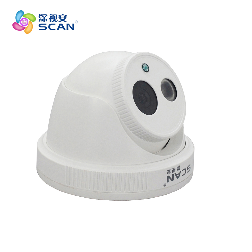 Hd 2.0mp 1080p Dome Ip Camera Indoor Infrared Night Vision Security Surveillance Cctv Cmos White Webcam Freeshipping Hot Sale cmos 800tvl bullet camera infrared light night vision cctv outdoor surveillance security plastic mini webcam freeshipping