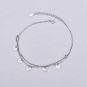 100% 925 Sterling Silver Ankle