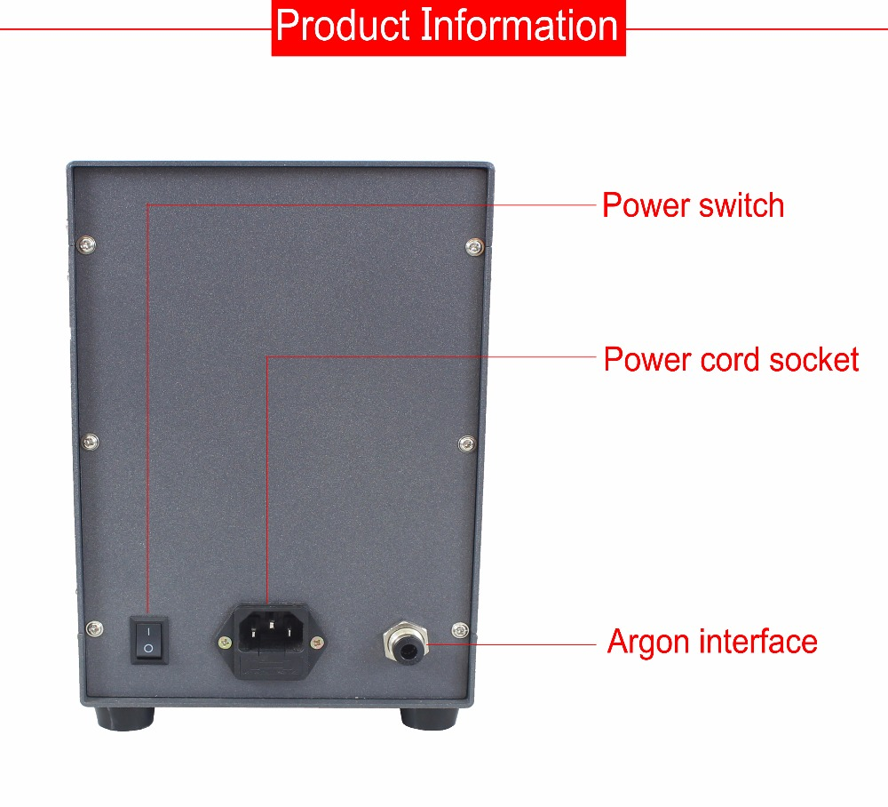 Soudeuse automatique d'arc d'argon d'impulsion de contact de commande numérique de Machine de soudure de Laser de tache d'acier inoxydable de 220V pour souder des bijoux - 3
