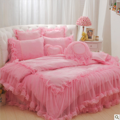 Aliexpress.com : Buy 4pcs/6pcs pink princess bedding set queen ...