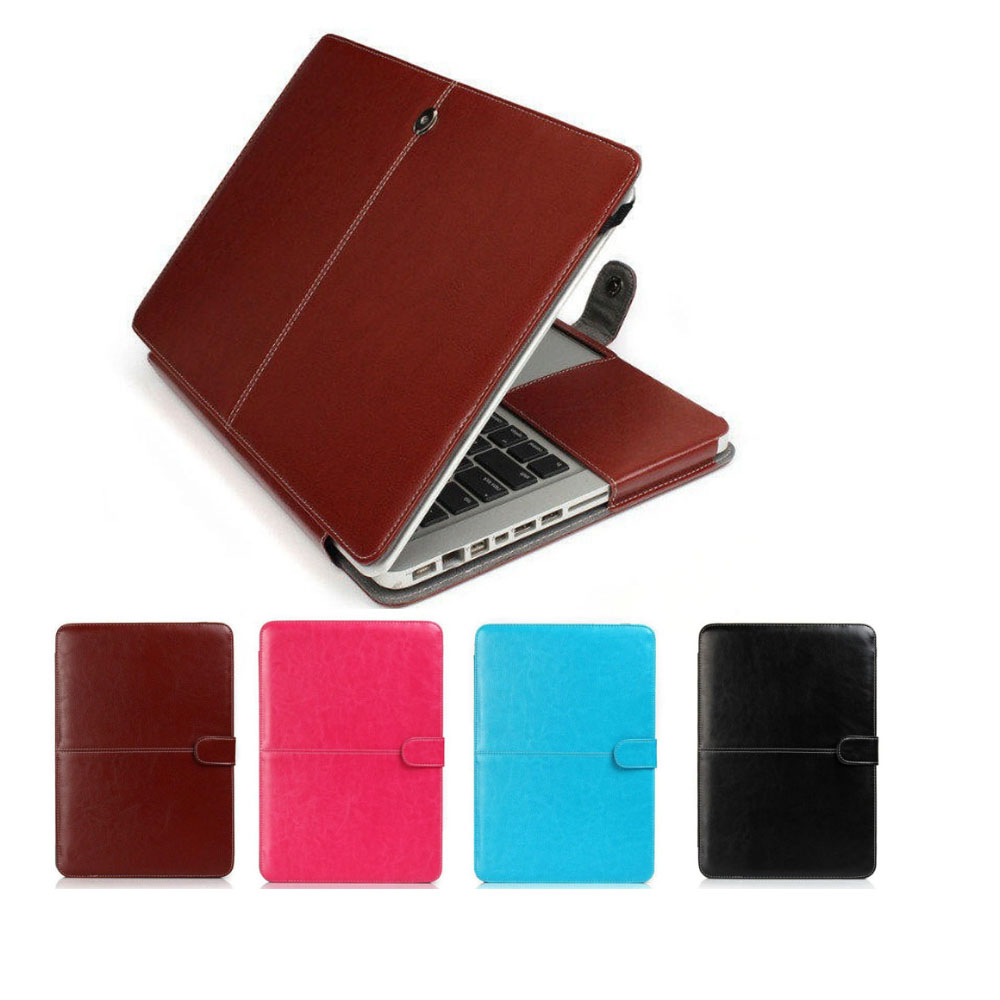 Hot PU leather case protective sleeve for macbook pro 13 15/retina 12 13 15 air 11 13 laptop bag case notebook protector for mac