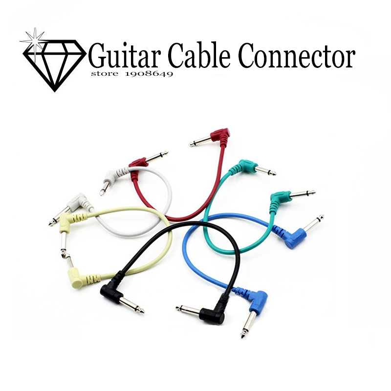 electric guitar effect pedal cable length 25cm patch cable angle connector high quality anti. Black Bedroom Furniture Sets. Home Design Ideas