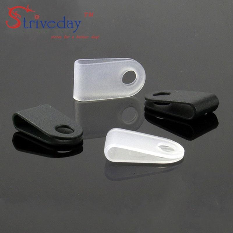 500pcs/lot White Black 3.3 U type line clamp Cable retention clips Type U Line deduction Cable Clips