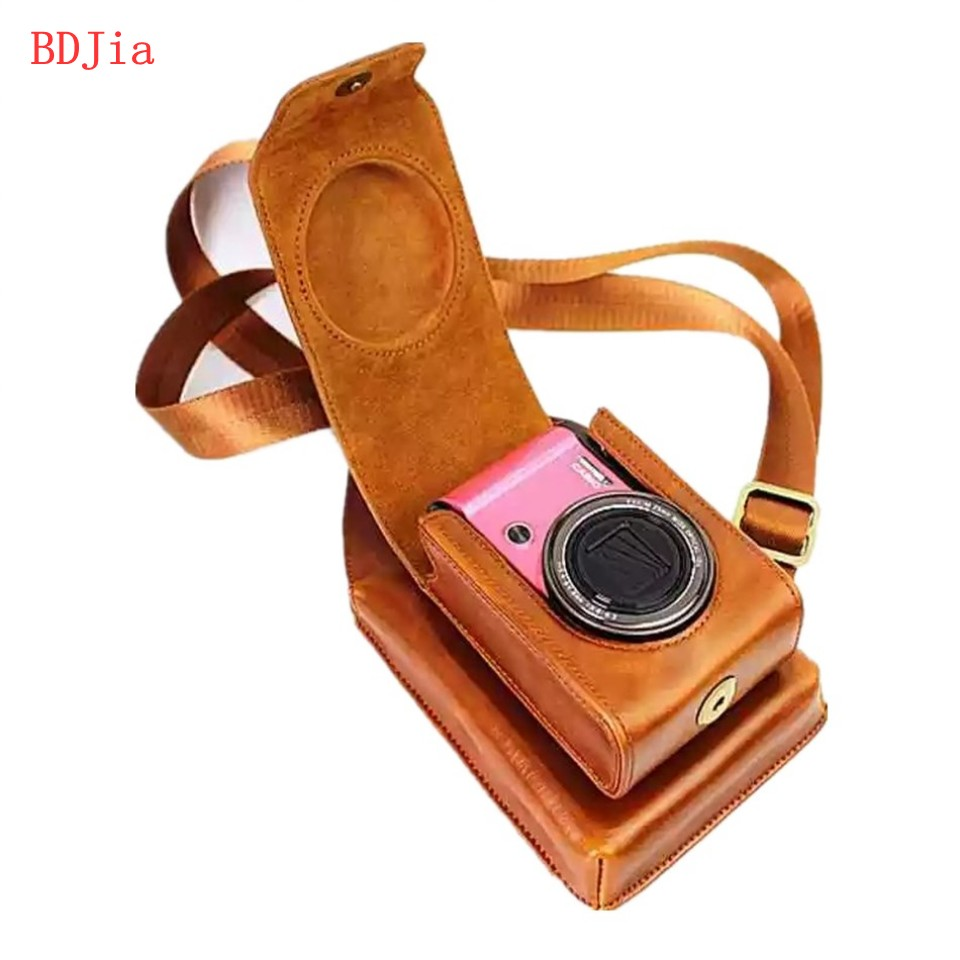 New PU Leather Camera Case Bag Cover for Canon SX720 SX710 SX710 SX610 SX600 G9X G7Xii G7X SX280 SX275 SX260 SX240 Camera+ Phone