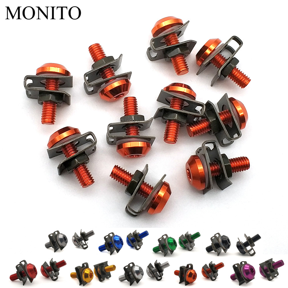CNC Motorcycle Fairing Screws Custom Moto Body Spring Bolts For KTM 790 990 1050 1190 1290 Adventure Super Duke R GT Accessory in Nuts Bolts from Automobiles Motorcycles