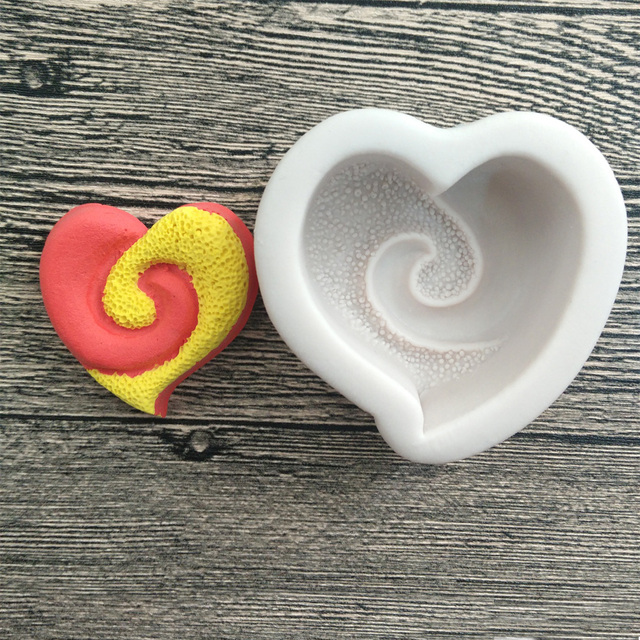 1pcs non stick silicone love heart shape cake mold amore baking