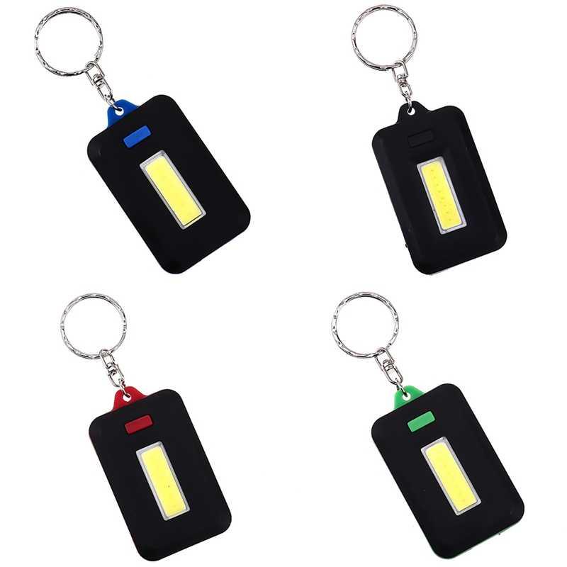 2Pcs Mini LED Light Torch Flashlight Keyring Key Chain Christmas Stocking