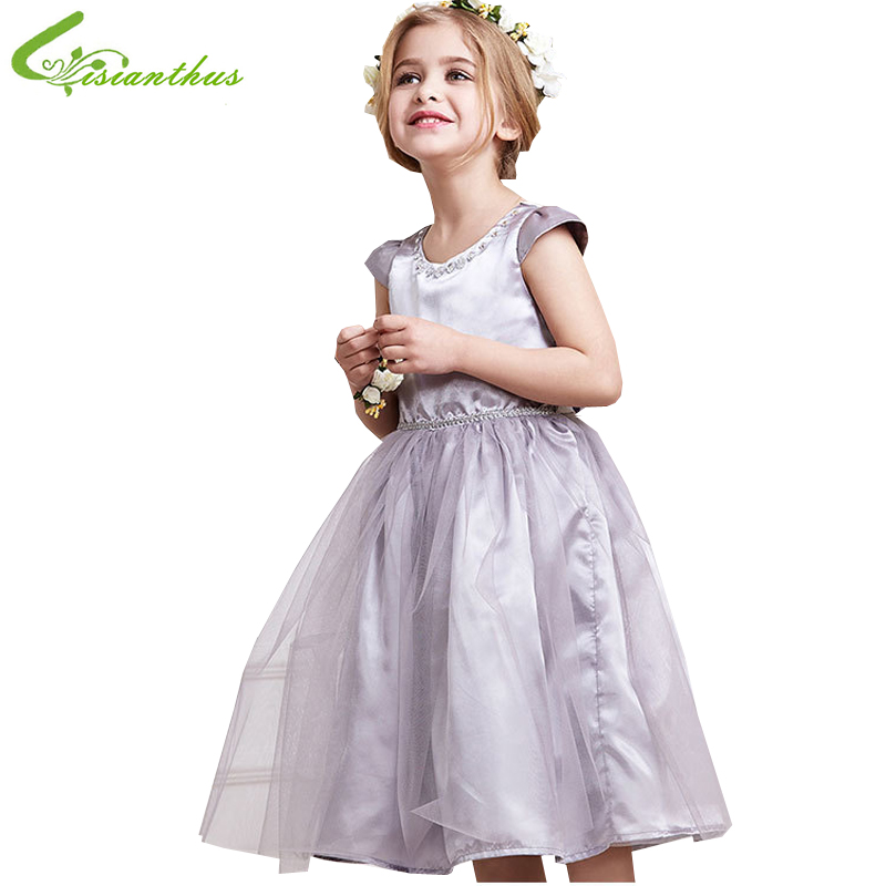 Noble Girls Dresses Princess Ball Gown Elegant Children Birthday Party Dress Kids Summer Clothing New Clothes Free Drop Shipping 2016 high grade child girls princess tutu dress kids performance clothes summer birthday and webbing party dresses free shipping