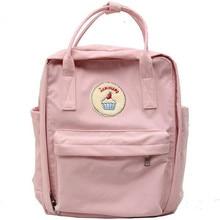 2017 Pastel de Estilo Japonés mochila de Lona de Alta Calidad Muchachas Del bolso de Hombro Grande Bolsa de Ordenador Portátil de la Escuela Mochila de Viaje Multifuncional