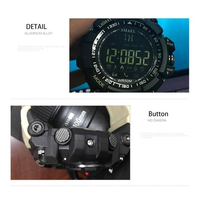 Smael sport watch men top luxury brand military 50m waterproof wristwatch clock men's led digital watches relogio masculino