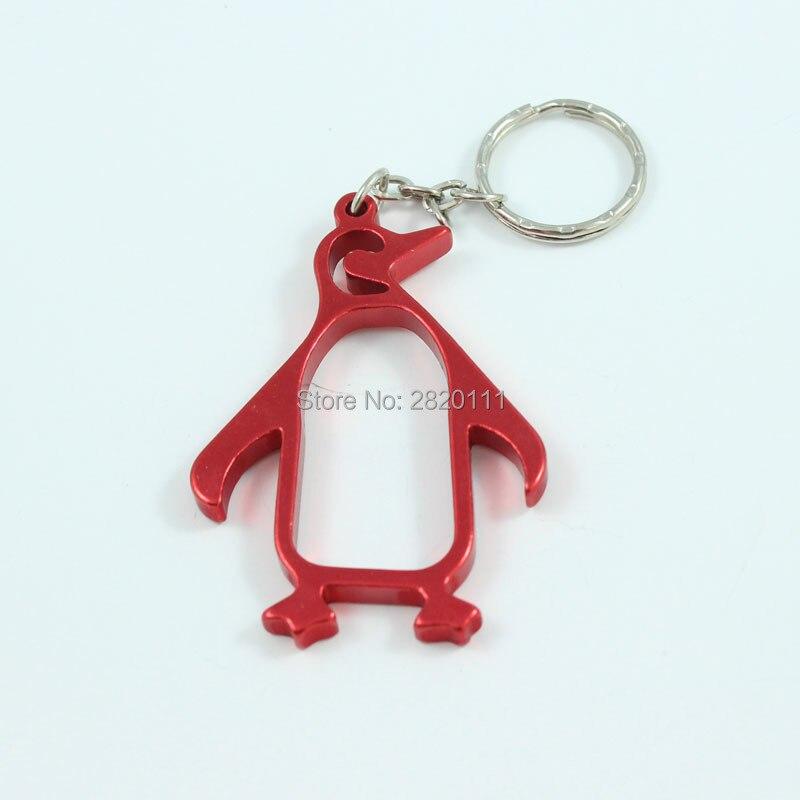 Lot of 12 pc Metal  Penguin Key Chain Bottle Opener