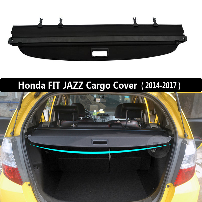 Rear Cargo Cover For Honda FIT JAZZ 2014 2015 2016 2017 2018 2019 privacy Trunk Screen Security Shield shade Auto AccessoriesRear Cargo Cover For Honda FIT JAZZ 2014 2015 2016 2017 2018 2019 privacy Trunk Screen Security Shield shade Auto Accessories