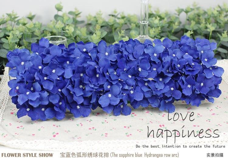 Künstliche Hydragea Blumengirlanden 10 Stücke 50 * 20 cm - Partyartikel und Dekoration - Foto 3