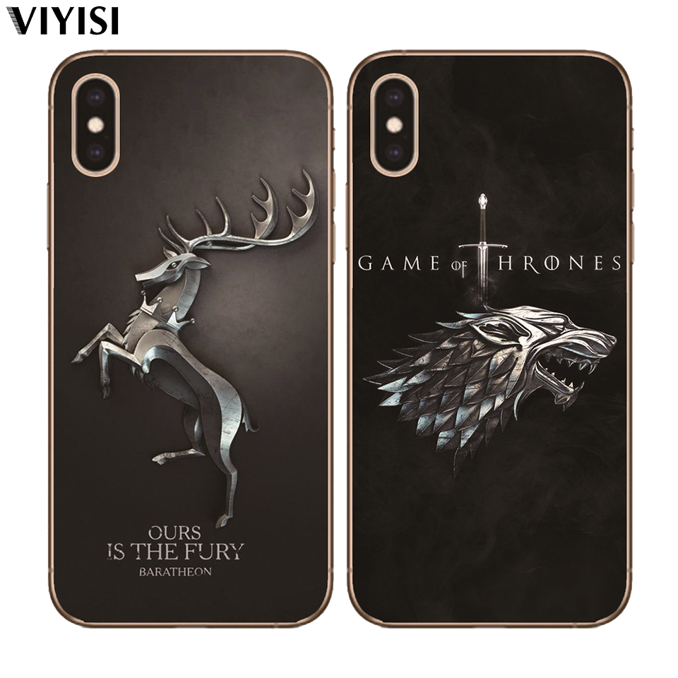 Case For iPhone X XS MAX XR 7 8 6 6S Plus 5 5S Game Thrones Daenerys Dragon Jon Snow Tyrion Lannister Soft Silicone TPU Cover in Fitted Cases from Cellphones Telecommunications