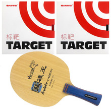 Pro Table Tennis Combo Paddle Racket Sanwei F3 with 2 Pcs Target Shakehand long handle FL