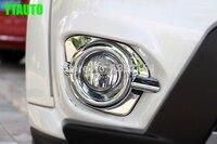 Auto Front Fog Lamp Trim Head Fog Light Cover For Mitsubishi Pajero Free Shipping