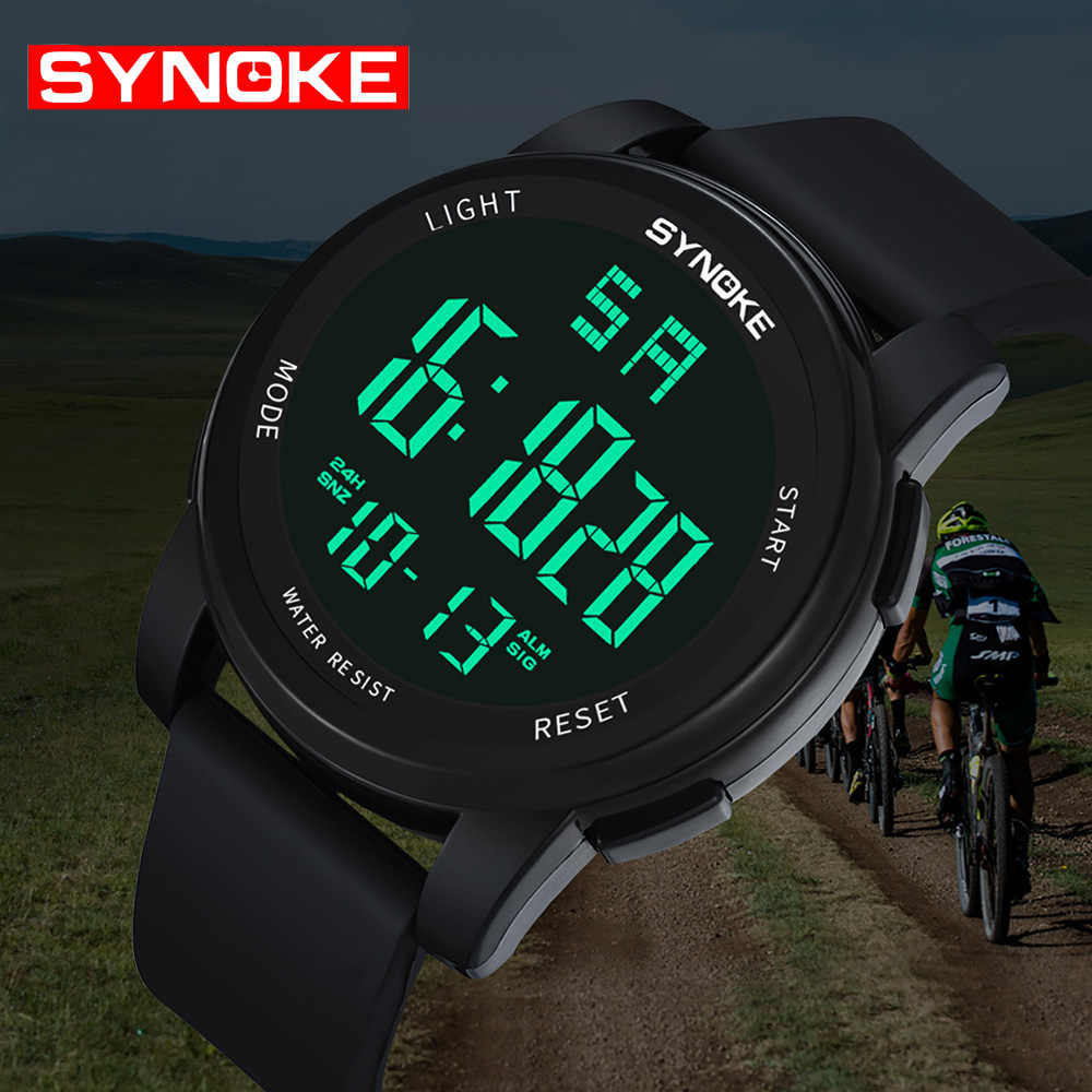 6c2ec2aff ... SYNOKE Digital Sports Wrist Watch Reloj LED Hombre Waterproof Digital  Fashion Military Sport Men Watches Male ...